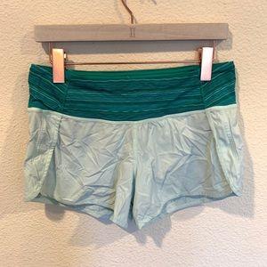 Lululemon mint green running shorts run time